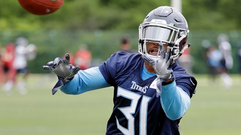 <p>               FILE - In this June 13, 2018, file photo, Tennessee Titans defensive back Kevin Byard runs a drill during NFL football minicamp in Nashville, Tenn. Titans head coach Mike Vrabel knows exactly what he wants his team to improve on defensively for his first season as head coach: Don't give up an average of 8 1/2 points in the fourth quarter. (AP Photo/Mark Humphrey, File)             </p>