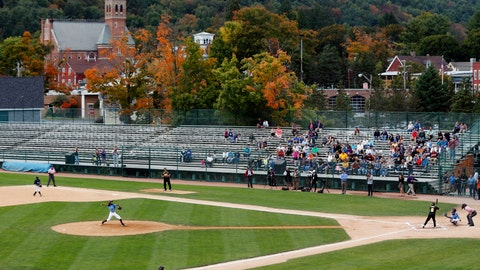 <p>               FILE - In this Sept. 25, 2014, file photo, an exhibition baseball game is played at Doubleday Field in downtown Cooperstown, N.Y., near the National Baseball Hall of Fame. There's much more to the one-stoplight village than its No. 1 attraction, but the National Baseball Hall of Fame on Main Street is truly a great shrine for the game, and even if you don't have a player to root for you can check out a game at Doubleday Field or at any of the 20-plus fields a few miles away at Cooperstown Dreams Park. (AP Photo/Mike Groll, File)             </p>