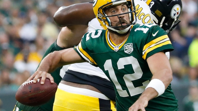 Aaron Rodgers throws TD pass in Packers' preseason win over Steelers
