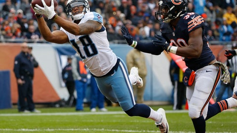 <p>               FILE - In this Nov. 27, 2016, file photo, Tennessee Titans wide receiver Rishard Matthews (18) makes a touchdown reception against Chicago Bears free safety Adrian Amos (38) during the first half of an NFL football game in Chicago. Matthews has been in the NFL the past six seasons, and now the veteran is hoping his experience learning other offenses will help him get up to speed very quickly with the Titans' newest scheme. (AP Photo/Nam Y. Huh, File)             </p>