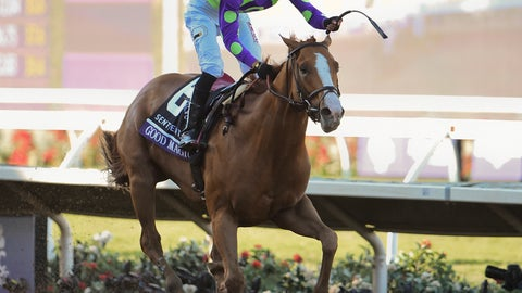 <p>               FILE - In this Nov. 4, 2017 file photo, Jose Ortiz rides Good Magic to victory in the Sentient Jet Juvenile horse race during the Breeders' Cup, in Del Mar, Calif. Trainer Chad Brown is in great position to win his first Travers Stakes when he sends out favored Good Magic and the second choice, Gronkowski, in the $1.25 million Midsummer Derby at Saratoga Race Course on Saturday.(AP Photo/Denis Poroy, File)             </p>