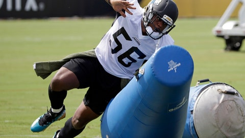 "<p>               FILE - In this July 28, 2017, file photo, Jacksonville Jaguars defensive end Dante Fowler Jr., performs a drill during NFL football training camp, in Jacksonville, Fla. Since Fowler is suspended for the regular-season opener, the Jaguars are getting him a little more work before leaving the team for a week. Fowler welcomes the opportunity since he knows this is likely his final season in Jacksonville. He's essentially starting his 2019 free agency pitch six months early. Fowler says his goal is to ""show people that I'm a franchise player."" (AP Photo/John Raoux, FIle)             </p>"