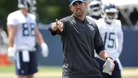 <p>               FILE - In this May 22, 2018, file photo, Tennessee Titans offensive coordinator Matt LaFleur runs a drill during an organized team activity at the Titans' NFL football training facility in Nashville, Tenn. LaFleur makes his debut calling plays for the Titans' offense on Thursday night, Aug. 9 in Green Bay. (AP Photo/Mark Humphrey, File)             </p>