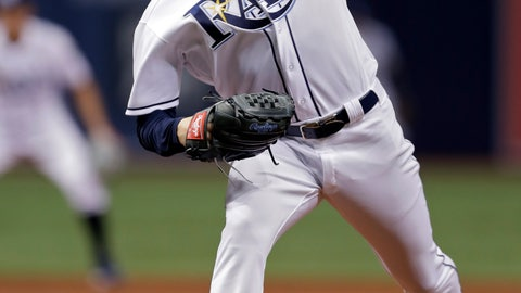 <p>               Tampa Bay Rays starting pitcher Blake Snell delivers to the Kansas City Royals during the first inning of a baseball game Tuesday, Aug. 21, 2018, in St. Petersburg, Fla. (AP Photo/Chris O'Meara)             </p>