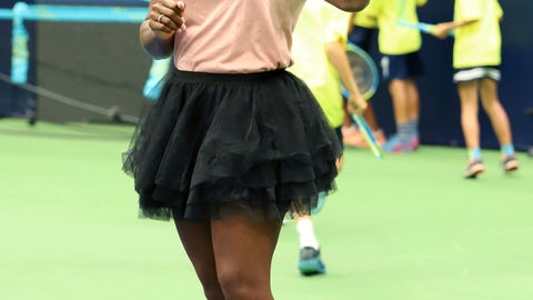 <p>               Serena Williams participates at the Arthur Ashe Kids' Day at the USTA Billie Jean King National Tennis Center on Saturday, Aug. 25, 2018, in New York. (Photo by Greg Allen/Invision/AP)             </p>