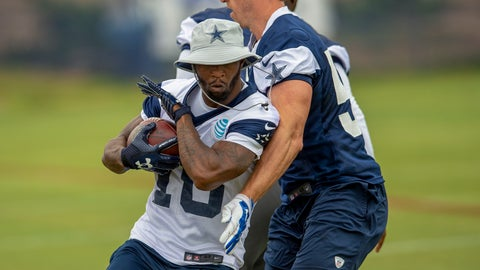 <p>               FILE - In this July 26, 2018, file photo, Dallas Cowboys running back Tavon Austin, left, runs by teammate linebacker Sean Lee during NFL football training camp in Oxnard, Calif. Austin never really had a fresh start with a new coach in Los Angeles because of a wrist injury that plagued him and a hamstring that popped on him before the last of five disappointing seasons with the Rams. The eighth overall pick in the 2013 draft believes the opportunity has arrived through a trade to the Cowboys and the health that Austin hoped would come with it. (AP Photo/Gus Ruelas, File)             </p>