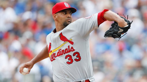 <p>               St. Louis Cardinals pitcher Tyson Ross throws to a Kansas City Royals batter in the first inning of a baseball game at Kauffman Stadium in Kansas City, Mo., Sunday, Aug. 12, 2018. (AP Photo/Colin E. Braley)             </p>