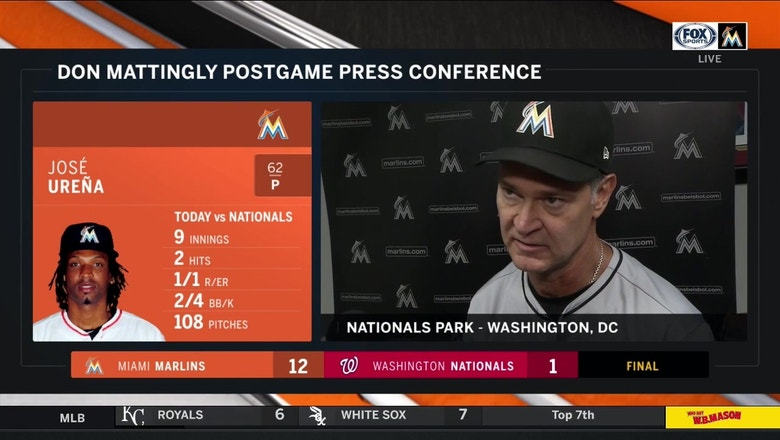 Don Mattingly on big day at the plate, Jose Urena bouncing back to pitch a complete game
