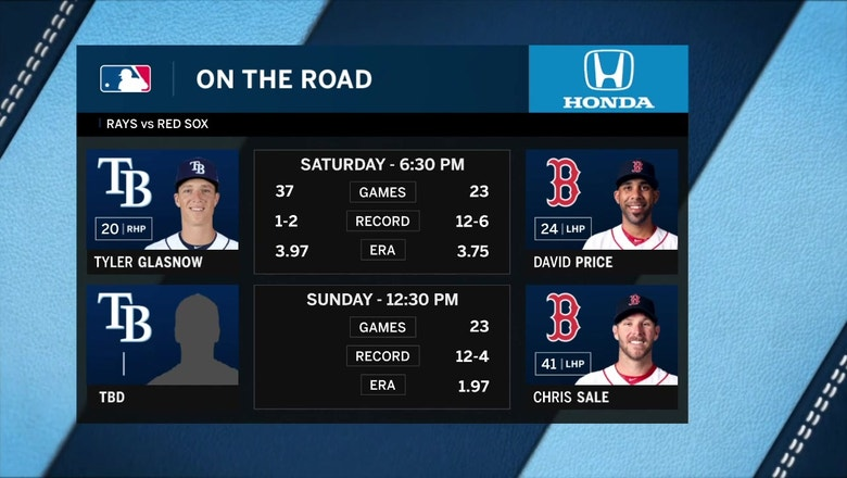 Tyler Glasnow looks to help Rays even series against MLB-best Red Sox