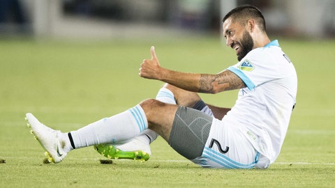 July 25, 2018; San Jose, CA, USA; Seattle Sounders midfielder Clint Dempsey (2) during the second half against the San Jose Earthquakes at Avaya Stadium. Seattle defeated San Jose 1-0. Mandatory Credit: Kyle Terada-USA TODAY Sports