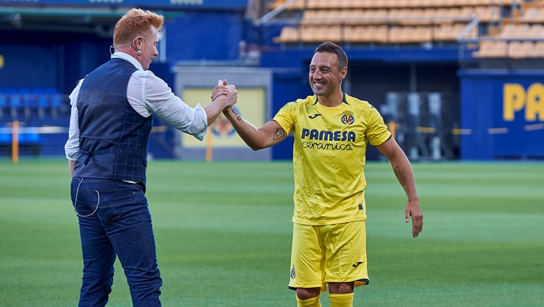 Villarreal unveil new signing Santi Cazorla with a magic trick