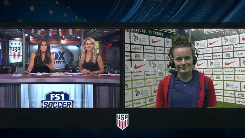 Rose Lavelle talks about overcoming nerves to get a crucial goal against Brazil