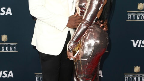 <p>               FILE - In this Feb. 4, 2017 file photo, LeSean McCoy of the Buffalo Bills, left, and Delicia Cordon arrive at the 6th annual NFL Honors at the Wortham Center in Houston. Cordon, McCoy's ex-girlfriend, is suing the Buffalo Bills running back for failing to protect her after she was bloodied, beaten and had $133,000 worth of jewelry stolen during a home invasion last month. (Photo by John Salangsang/Invision for NFL/AP Images, File)             </p>