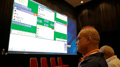 "<p>               In this Aug. 21, 2018, photo, India's bridge player Finton Lewis watches a bridge match competition on a screen at the 18th Asian Games in Jakarta, Indonesia. The card game of bridge is being included for the first time in the Asian Games. At least two players are over 80. The main promoter of the sport at the games is 78-year-old Indonesian billionaire Michael Bambang Hartono. He is also playing. One player likened bridge to being the ""athletics of the mind."" (AP Photo/Firdia Lisnawati)             </p>"