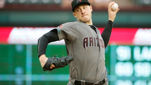 <p>               Arizona Diamondbacks starting pitcher Patrick Corbin (46) pitches against the Texas Rangers during the first inning of a baseball game Tuesday, Aug. 14, 2018, in Arlington, Texas. (AP Photo/Michael Ainsworth)             </p>