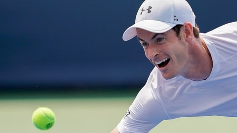 <p>               Andy Murray, of Great Britain, chases down a return from Lucas Pouille, of France, in the first round at the Western & Southern Open, Monday, Aug. 13, 2018, in Mason, Ohio. (AP Photo/John Minchillo)             </p>