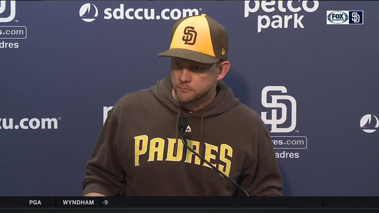 Padres manager Andy Green talks about Lucchesi, Villanueva's health after 9-4 loss