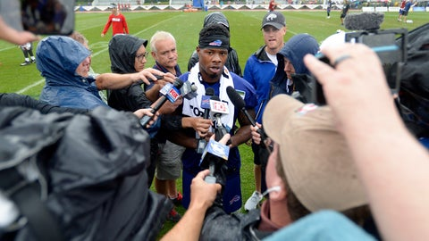 <p>               FILE - In this Aug. 7, 2018, file photo, Buffalo Bills wide receiver Corey Coleman talks to the media after his first practice at the NFL football team's training camp in Pittsford, N.Y. Bills newly acquired receiver Corey Coleman can't escape the reminders of Cleveland no matter how hard he's tried to put his two seasons with the Browns in the past. (AP Photo/Adrian Kraus, File)             </p>