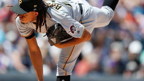 <p>               Pittsburgh Pirates starting pitcher Chris Archer works against the Colorado Rockies in the first inning of a baseball game Wednesday, Aug. 8, 2018, in Denver. (AP Photo/David Zalubowski)             </p>