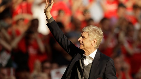 <p>               FILE - In a Sunday, May 6, 2018 file photo, Arsenal's French manager Arsene Wenger waves to spectators during his lap of honor at the Emirates Stadium in London. Liberian President and former soccer star George Weah is being criticized for his plan to award Arsene Wenger the West African country's highest honor. Weah, who was elected president of his country last year, plans to honor Wenger and another French soccer coach, Claude Le Roy. They both played crucial roles in Weah's career. (AP Photo/Matt Dunham, File)             </p>