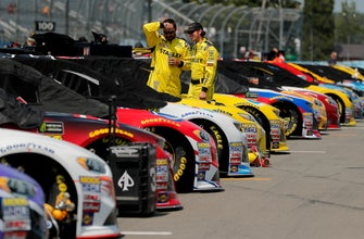 The Latest: Denny Hamlin starts from pole at Watkins Glen