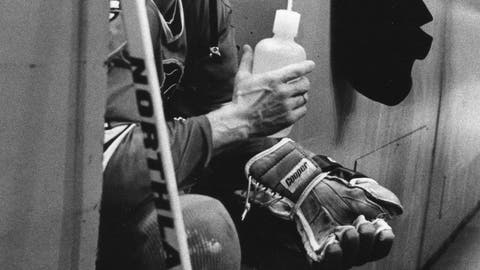 <p>               FILE - In this Jan. 6, 1979, file photo, Chicago Blackhawks' Stan Mikita serves a penalty outside an already-full penalty box during an NHL game against the Toronto Maple Leafs in Toronto. Mikita, who played for the Blackhawks for 22 seasons, becoming one of the franchise's most revered figures, has died, the Blackhawks announced Tuesday, Aug. 7, 2018. He was 78. (Julien LeBourdais/The Canadian Press via AP, File)             </p>