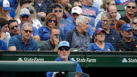 <p>               Chicago Cubs manager Joe Maddon watches his team during the fifth inning of a baseball game against the Cincinnati Reds, Friday, Aug. 24, 2018, in Chicago. The Cubs keep winning through everything that knocks some contenders out of the playoff race. Credit one of the majors' deepest rosters, but manager Joe Maddon also is pushing all the right buttons as Chicago tries to close out its third consecutive NL Central title. (AP Photo/Nam Y. Huh)             </p>