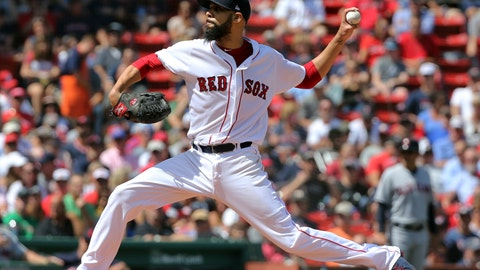 <p>               Boston Red Sox starting pitcher David Price delivers to the Cleveland Indians in the second inning of a baseball game, Thursday, Aug. 23, 2018, in Boston. (AP Photo/Elise Amendola)             </p>