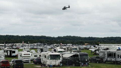 <p>               A medical helicopter takes off from the infield during the IndyCar auto race at Pocono Raceway, Sunday, Aug. 19, 2018, in Long Pond, Pa. (AP Photo/Matt Slocum)             </p>