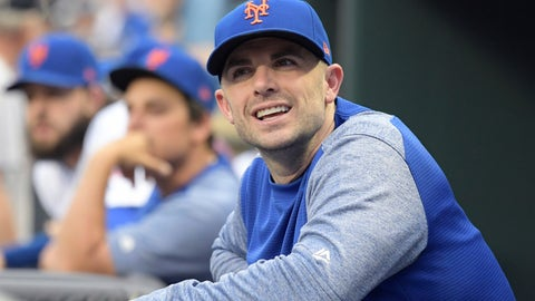 <p>               FILE - In this Saturday, June 9, 2018 file photo,New York Mets' David Wright looks on before a baseball game against the New York Yankees in New York. David Wright is moving up to Triple-A to continue his rehab assignment, but the New York Mets say it's unlikely the third baseman will play in the majors this season as he attempts an arduous comeback from back and shoulder injuries. (AP Photo/Bill Kostroun, File)             </p>