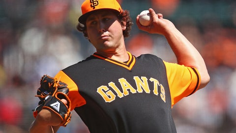 <p>               San Francisco Giants pitcher Derek Holland works against the Texas Rangers in the first inning of a baseball game Sunday, Aug. 26, 2018, in San Francisco. (AP Photo/Ben Margot)             </p>