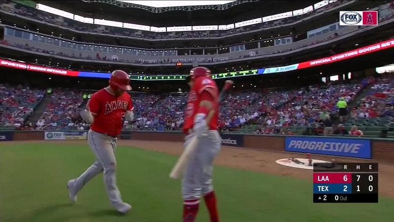 Kole Calhoun shows off power with crazy opposite field homer