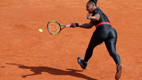"<p>               FILE - In this May 29, 2018 file photo, Serena Williams of the U.S. returns a shot against Krystyna Pliskova of the Czech Republic during their first round match of the French Open tennis tournament at the Roland Garros stadium in Paris. Serena Williams will no longer be allowed to wear her sleek, figure-hugging catsuit at the French Open. The French Tennis Federation president, Bernard Giudicelli, says the tournament that Williams has won three times is introducing a dress code to regulate players' uniforms because ""I think that sometimes, we've gone too far."" (AP Photo/Michel Euler, File)             </p>"