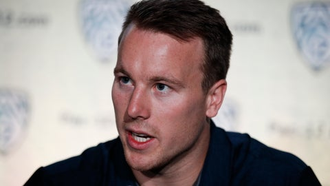 <p>               FILE - In this July 25, 2018, file photo, California running back Patrick Laird speaks at the Pac-12 Conference NCAA college football Media Day in Los Angeles. Laird has come from seventh-string walk-on to leading man on California's offense during his time with the Golden Bears. (AP Photo/Jae C. Hong, File)             </p>