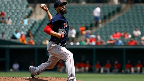 <p>               Boston Red Sox starting pitcher David Price throws to the Baltimore Orioles in the first inning of the first baseball game of a doubleheader, Saturday, Aug. 11, 2018, in Baltimore. (AP Photo/Patrick Semansky)             </p>