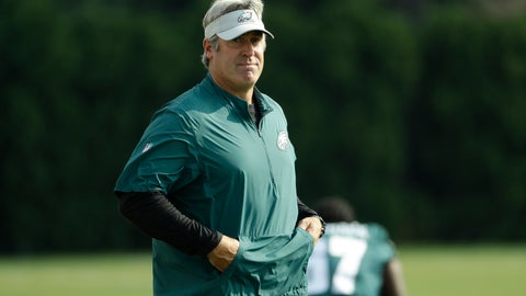 <p>               Philadelphia Eagles head coach Doug Pederson walks onto the field during NFL football training camp Tuesday, Aug. 7, 2018 in Philadelphia. (AP Photo/Matt Rourke)             </p>