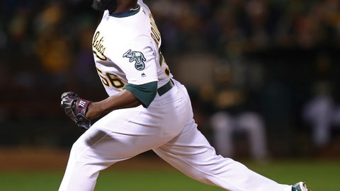 <p>               File- This Aug. 14, 2018, file photo shows Oakland Athletics' Fernando Rodney workimg against the Seattle Mariners in the eighth inning of a baseball game, in Oakland, Calif. The Oakland Athletics had bigger plans for 2018, though. They brought Rodney back to Minnesota this weekend as one of several stalwarts in their sturdy bullpen next to Blake Treinen, Lou Trivino, Jeurys Familia and Yusmeiro Petit. Treinen has 32 saves for the A's. Rodney (25) and Familia (17) combined for 42 saves with the Twins and New York Mets before arriving in separate trades. (AP Photo/Ben Margot, File)             </p>