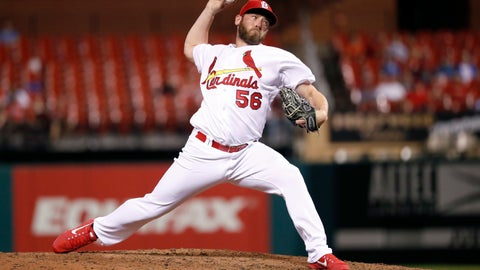 <p>               FILE- In this June 26, 2018, file photo, St. Louis Cardinals relief pitcher Greg Holland throws during the eighth inning of a baseball game against the Cleveland Indians in St. Louis. The Washington Nationals have signed the free agent reliever Greg Holland, whom they hope can regain his effectiveness and provide leadership in the clubhouse. Holland was 0-2 with a 7.92 ERA in 32 games with St. Louis before being designated for assignment on July 27. (AP Photo/Jeff Roberson, File)             </p>