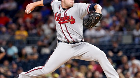 <p>               Atlanta Braves starter Bryse Wilson pitches against the Pittsburgh Pirates in the fifth inning of a baseball game, Monday, Aug. 20, 2018, in Pittsburgh. (AP Photo/Keith Srakocic)             </p>