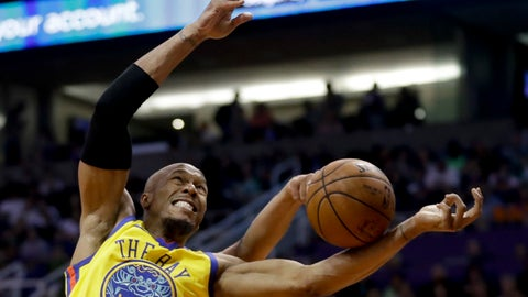 <p>               FILE - In this March 17, 2018, file photo, Golden State Warriors forward David West, front, and Phoenix Suns forward Jared Dudley reach for a loose ball during the first half of an NBA basketball game in Phoenix. West, a key big man off the bench for the Golden State Warriors' past two championship seasons, has retired. And he gets to go out on top, too. West's Twitter announcement on Thursday, Aug. 31, 2018, one day after his 38th birthday, wasn't a surprise as he made it clear he would take some time after the team's latest title run to contemplate his future and the idea of calling it a career. (AP Photo/Chris Carlson, File)             </p>