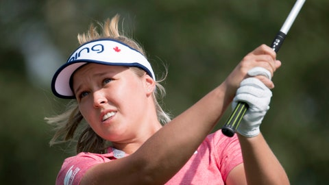 <p>               Canada's Brooke Henderson watches her shot from the fifth tee during the first round of the CP Women's Open golf tournament in Regina, Saskatchewan, Thursday, Aug. 23, 2018. ( Jonathan Hayward/The Canadian Press via AP)             </p>