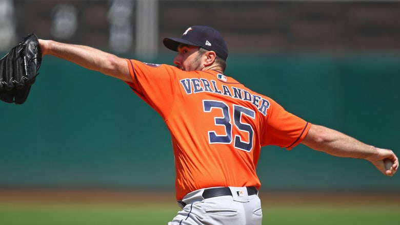 Verlander wins 200th, Astros back ahead of A's with 9-4 win