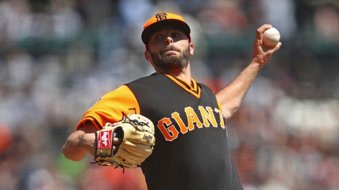 <p>               San Francisco Giants pitcher Andrew Suarez works against the Texas Rangers in the first inning of a baseball game Saturday, Aug. 25, 2018, in San Francisco. (AP Photo/Ben Margot)             </p>