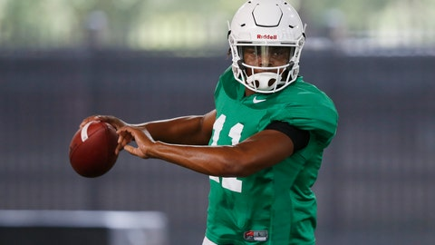 <p>               FILE - In this Tuesday, Aug. 7, 2018, file photo Oklahoma State quarterback Keondre Wudtee (11) throws during an NCAA college football practice in Stillwater, Okla. Wudtee, who suffered a bruised shoulder/sternum in spring practice, is in the mix to become the next starting quarterback. (AP Photo/Sue Ogrocki, File)             </p>
