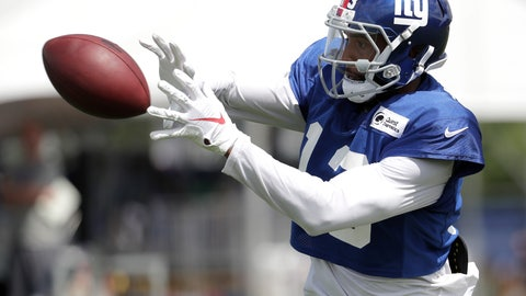 <p>               New York Giants wide receiver Odell Beckham works out during NFL football training camp, Thursday, Aug. 2, 2018, in East Rutherford, N.J. (AP Photo/Julio Cortez)             </p>