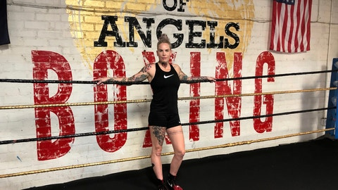 <p>               In this Thursday, Aug. 16, 2018 Bec Rawlings, of Australia, poses in the ring after a bare-knuckle sparring session at City of Angels Boxing Club in Los Angeles. Rawlings is a longtime UFC fighter who will fight on the second sanctioned bare-knuckle boxing show in the U.S. in over a century on Saturday, Aug. 25, in Biloxi, Miss. (AP Photo/Greg Beacham)             </p>