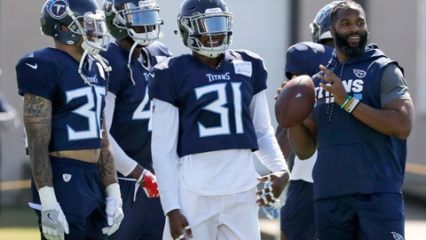 "<p>               Tennessee Titans defensive back Kevin Byard (31) waits for his turn to run a drill during NFL football training camp Tuesday, Aug. 7, 2018, in Nashville, Tenn. Byard has been called just a ""fan"" on Twitter by Hall of Famer Deion Sanders. Well, Byard is busy working hard for a follow-up to his second season in the NFL when he tied for the league-lead with eight interceptions earning both All Pro and Pro Bowl honors. (AP Photo/Mark Humphrey)             </p>"