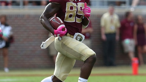 <p>               FILE - In this Oct. 7, 2017, file photo, Florida State's Keith Gavin picks up yardage against Miami after making a reception in the second quarter of an NCAA college football game, in Tallahassee, Fla. No. 19 Florida State heads into the season with just two players that have more than 10 college receptions, senior Nyqwan Murray and junior Keith Gavin.(AP Photo/Steve Cannon, File)             </p>