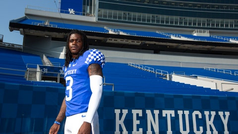 <p>               FILE - In this Aug. 3, 2018, file photo, sophomore Terry Wilson (3) poses at Kentucky NCAA college football media day at Kroger field in Lexington, Ky. Kentucky coach Mark Stoops will choose transfer Terry Wilson or redshirt sophomore Gunnar Hoak as the Wildcats' starting quarterback against Central Michigan but stressed that both will play. The competition is so close that the position might be a group effort early in the season. (Silas Walker/Lexington Herald-Leader via AP, File)             </p>