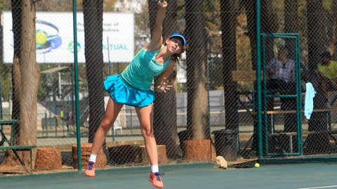 <p>               Victoria Sasinka, 13, of the US serves the ball, during an International Tennis Federation Tournament, at Harare Sports Club, in Harare, Monday, Aug. 6, 2018. As Zimbabwean soldiers opened fire on rioters, protesters and bystanders after a disputed election, teen-agers in an International Tennis Federation tournament were battling each other on hard courts a few kilometers (miles) from the deadly violence. (AP Photo/Tsvangirayi Mukwazhi)             </p>